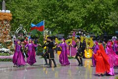 Festival of flowers in the Baku city, Azerbaijan Royalty Free Stock Photos