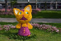 Festival of flowers in the Baku city, Azerbaijan Stock Image