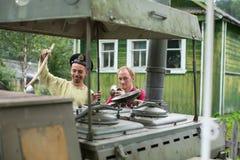 Festival of folk culture Russian Tea. Royalty Free Stock Photos
