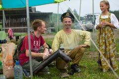 Festival of folk culture Russian Tea Royalty Free Stock Image