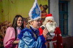 Festival folklorique russe d'hiver dans la région de Kaluga le 13 mars 2016 Photographie stock libre de droits