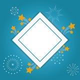 Festival frame design. Festival frame with fireworks vector illustration graphic design Stock Image