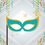 Festival frame design. Mask festival frame vector illustration graphic design Royalty Free Stock Images