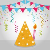 Festival frame design. Pennants flags festival frame vector illustration graphic design Stock Images