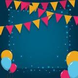 Festival frame design. Pennants flags festival frame vector illustration graphic design Stock Photo