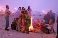 festival gangasagar india 免版税库存照片