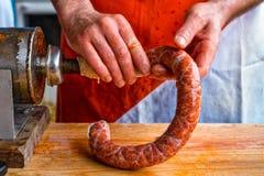 Festival gastronômico do ar livre internacional dos carniceiros no transporte Fotografia de Stock Royalty Free