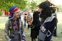 Festival georgiano del gene di arte di piega Fotografia Stock Libera da Diritti