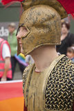 Festival goers dressed as a Roman Soldier Royalty Free Stock Image