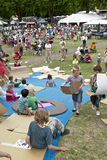 Festival goers at the Exeter Respect Festival Stock Image