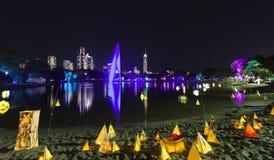 Festival Gold Coast Australia del resplandor Imagen de archivo libre de regalías