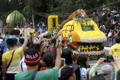 Festival grand de flotteur de fleur image libre de droits