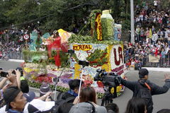 Festival grand de flotteur de fleur photos libres de droits
