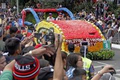Festival grand de flotteur de fleur images libres de droits