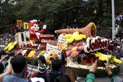 Festival grand de flotteur de fleur images stock