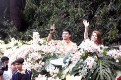 Festival grande do flutuador da flor imagem de stock royalty free