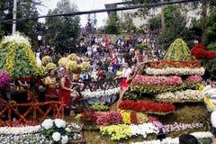 Festival grande do flutuador da flor fotos de stock