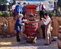 Festival of the grape harvest in chusclan Stock Photo