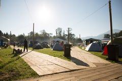 Festival het kamperen Royalty-vrije Stock Afbeelding