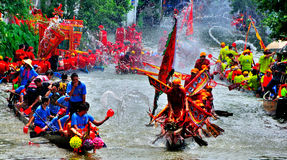 Festival heureux de bateau de dragon Photo libre de droits