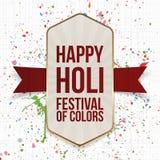 Festival heureux de Holi de carte de verticale de couleur Photos stock