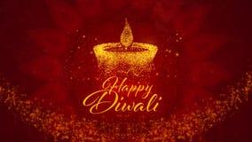Festival hindú feliz de Diwali de los saludos de las luces imagenes de archivo