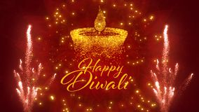 Festival hindu feliz de Diwali de cumprimentos das luzes fotos de stock