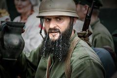 Festival histórico militar Chortkiv Athenziv em Chortkiv do 15 ao 17 de junho de 2018 1º de outubro de 2016 Soldados do Foto de Stock Royalty Free