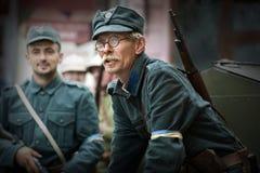 Festival histórico militar Chortkiv Athenziv em Chortkiv do 15 ao 17 de junho de 2018 1º de outubro de 2016 Soldados do Fotografia de Stock