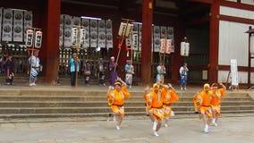 Festival histórico, Nara, Japón almacen de video