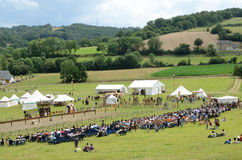 Festival of historical reenactment in the Pyrenees-Atlantiques Royalty Free Stock Photo