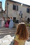 Festival historique de Giostra - concert de cannelure Photos libres de droits
