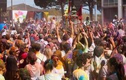 Festival  Holi Barcelona Stock Image