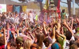Festival Holi in Barcelona Royalty Free Stock Photos