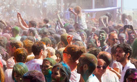 Festival Holi in Barcelona Royalty Free Stock Photo