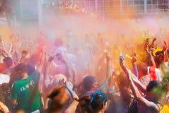 Festival  Holi Barcelona Stock Images