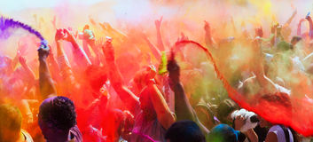 Festival Holi in Barcelona. Royalty Free Stock Image