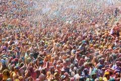 Festival Holi em Barcelona Foto de Stock