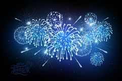 Holiday firework. Independence day. Festival holiday firework. Independence day Royalty Free Stock Image