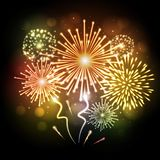 Holiday firework. Independence day Royalty Free Stock Photography