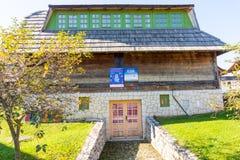 Festival house in Kusturica Drvengrad in Serbia stock images