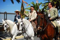 Festival - il pellegrinaggio di EL Rocio Fotografie Stock