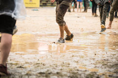 Festival im Regen Lizenzfreies Stockfoto