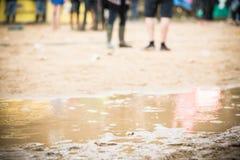 Festival im Regen Stockfoto