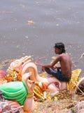 Festival Imersão-Hindu de Ganesh Foto de Stock