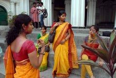 Festival indù dei colori Fotografia Stock