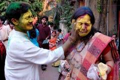 Festival indù dei colori Fotografia Stock Libera da Diritti