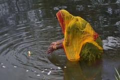 FESTIVAL INDIANI GANGASAGAR MELA Fotografie Stock Libere da Diritti