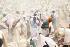 Festival indiano del tempio con soltanto le donne immagine stock libera da diritti