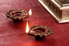 Festival indiano Diwali Diya Lamp Light Imagem de Stock Royalty Free